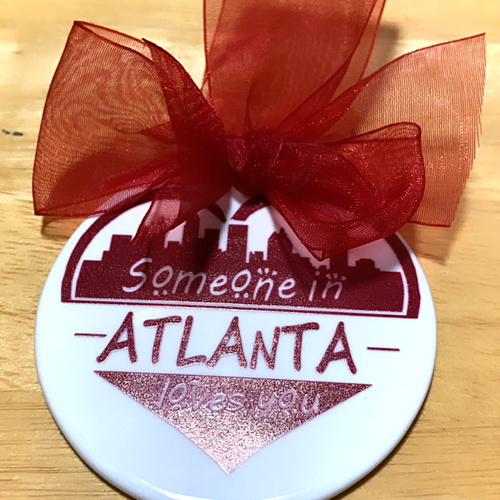 Someone in Atlanta Loves You Ornament