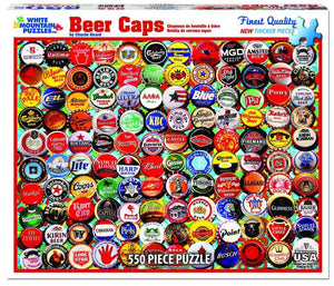 Beer Bottle Caps - 1000 Piece Jigsaw Puzzle