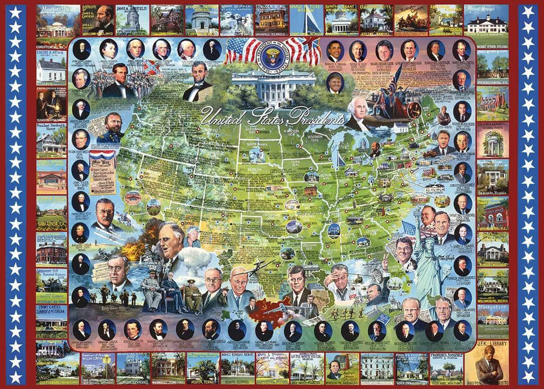 United States Presidents - 1000 Piece Jigsaw Puzzle
