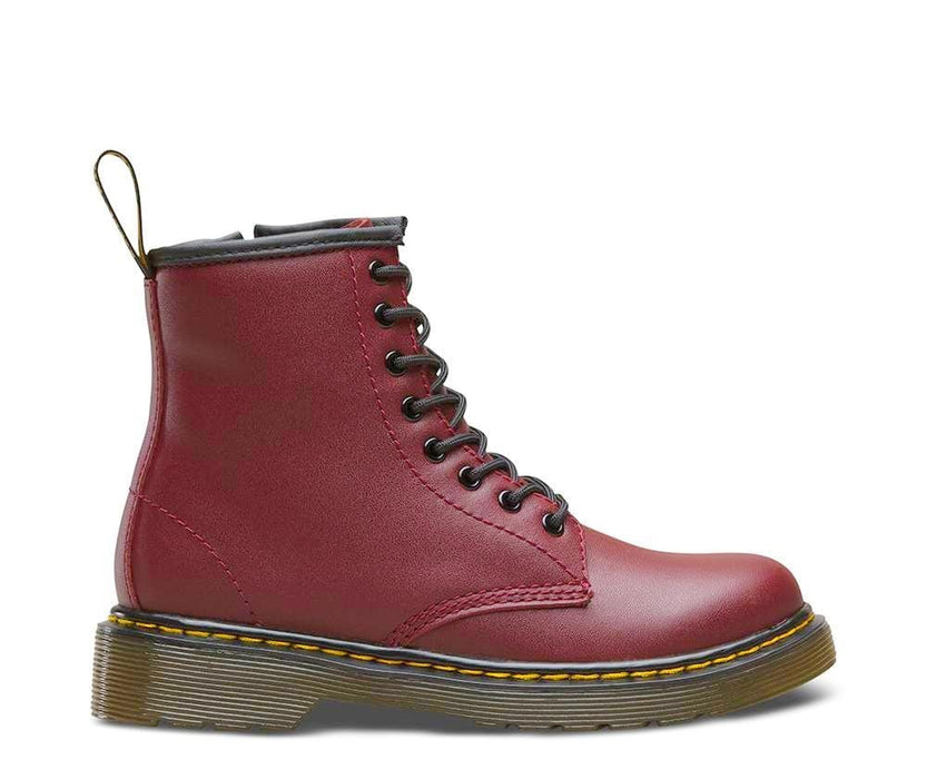 Delaney Kid's - Cherry Red Leather