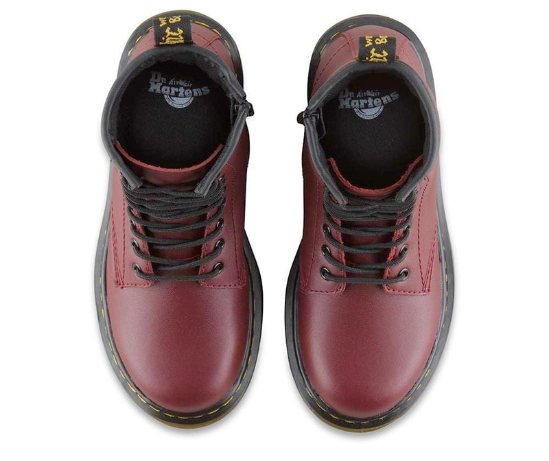 Delaney Youth - Cherry Red Leather