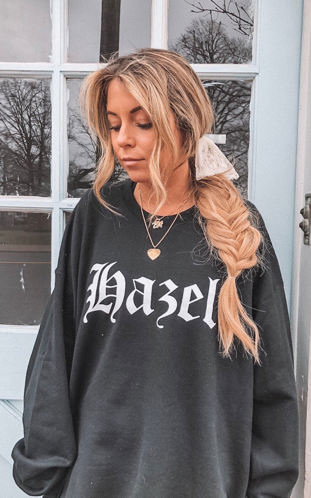 Hazel Old English Sweatshirt