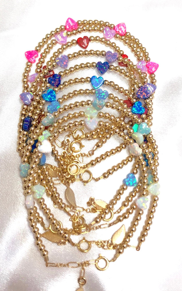 Opal Heart By The Yard Bracelet
