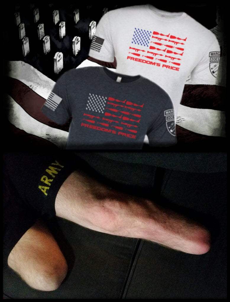 Freedom Isn't Free, Iraq War, Double Amputee, The Price of Freedom, Freedom's Price, Combat Veteran, Disabled Veteran, Prosthetics, Explosives, WARGASM, Wargasm Clothing Company