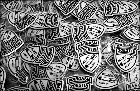 WARGASM, Wargasm Clothing, PVC Patch, Tactical Patch, Patch Collection, Warheads on Foreheads, Dropping Bombs, Cool Velcro Patches, Velcro Patch, Military Patch, Tactical, Tacticool, Veteran Owned, Combat Veteran, Uniform Patch