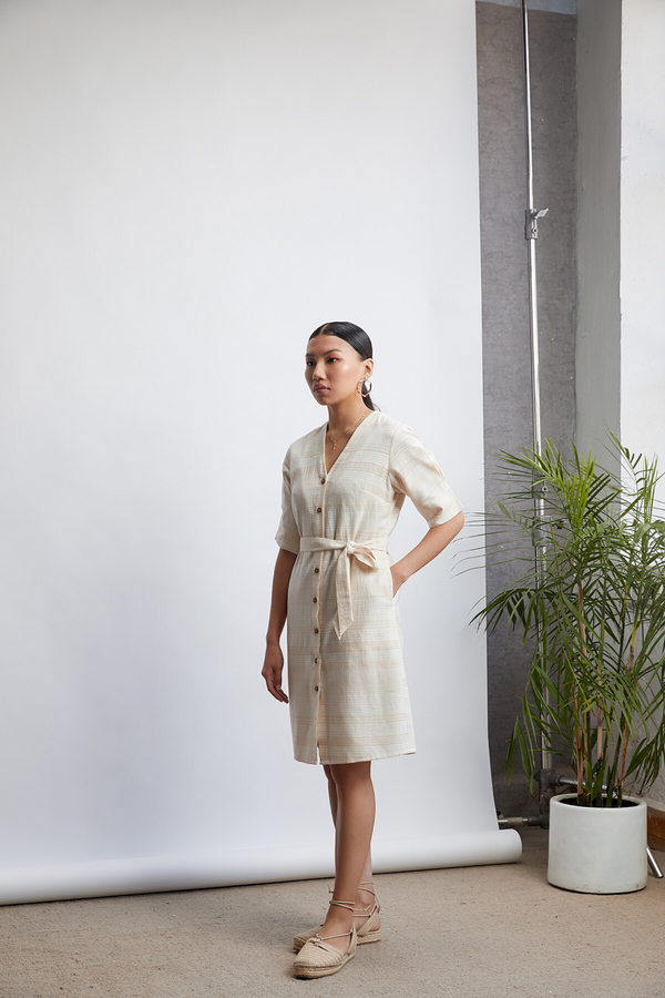 Basic Summer handwoven organic cotton dress