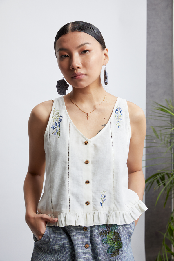Bloom Up handwoven sleeveless top