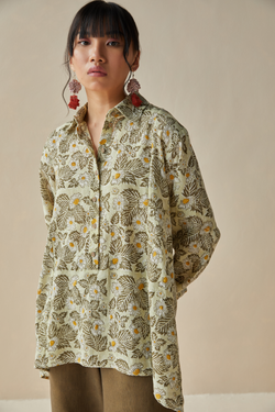 Daisy Moon handwoven organic cotton shirt