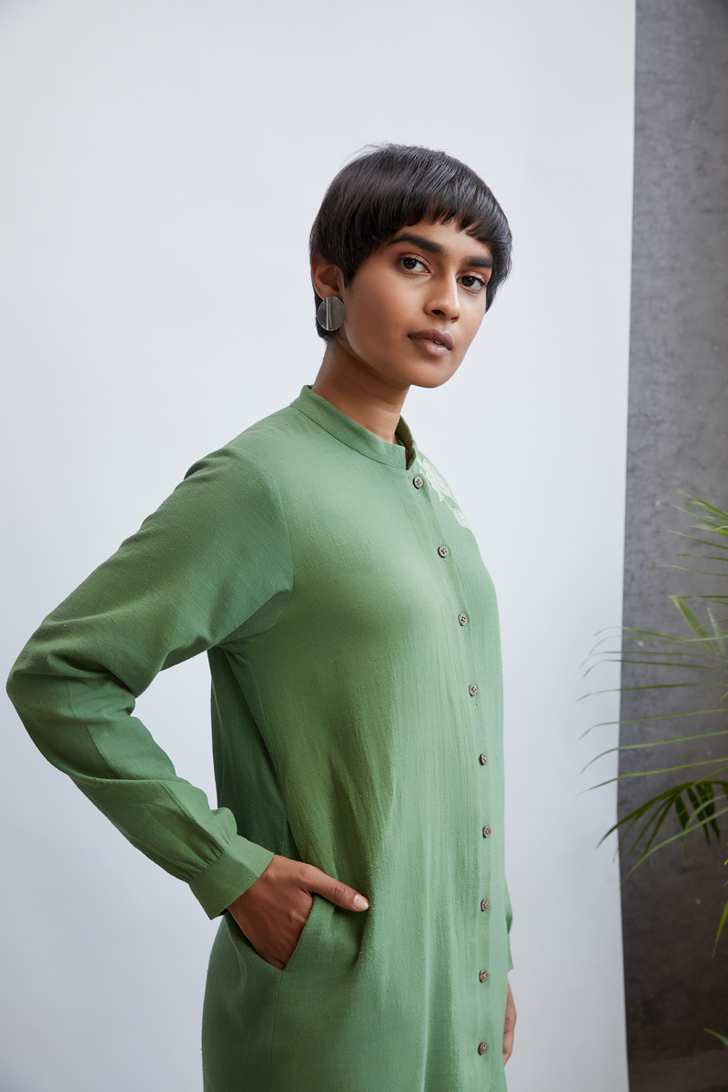 Green Paradise handwoven organic cotton kurta