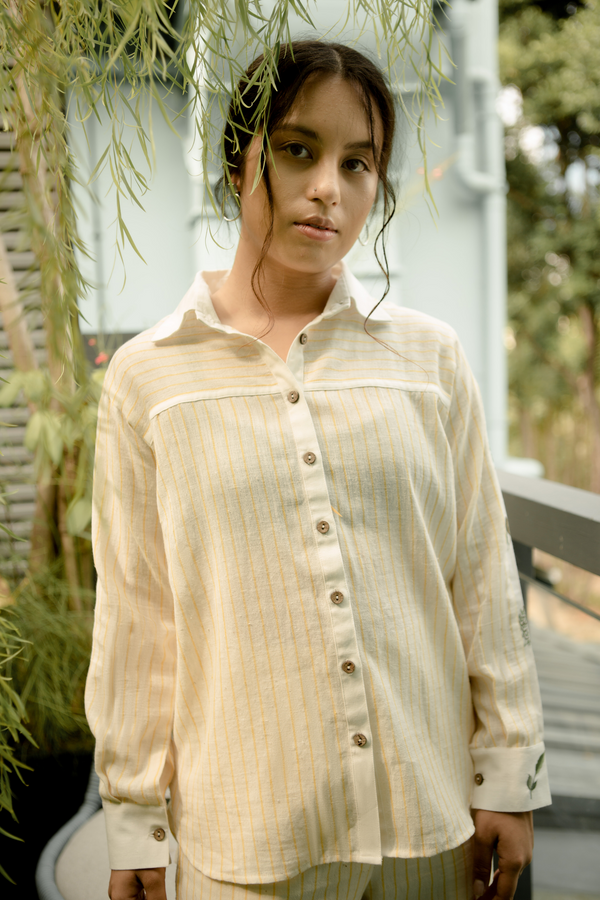 Sui | OFF YOU GLOW handwoven organic cotton casual button-down shirt from Basic-ally Sui 2.0 Collection 2019