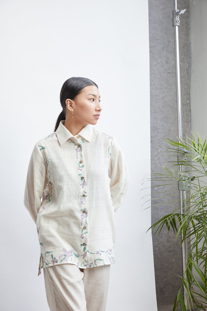 Orchid Garden Patch shirt