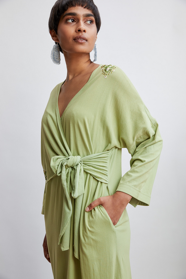 Rainforest front tie wrap dress