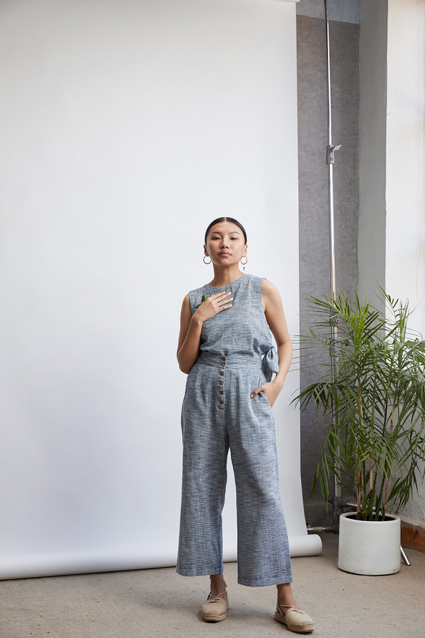 Riverside Easy handwoven organic cotton trousers