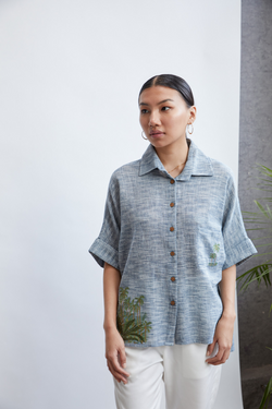 Summer Love handwoven organic cotton shirt