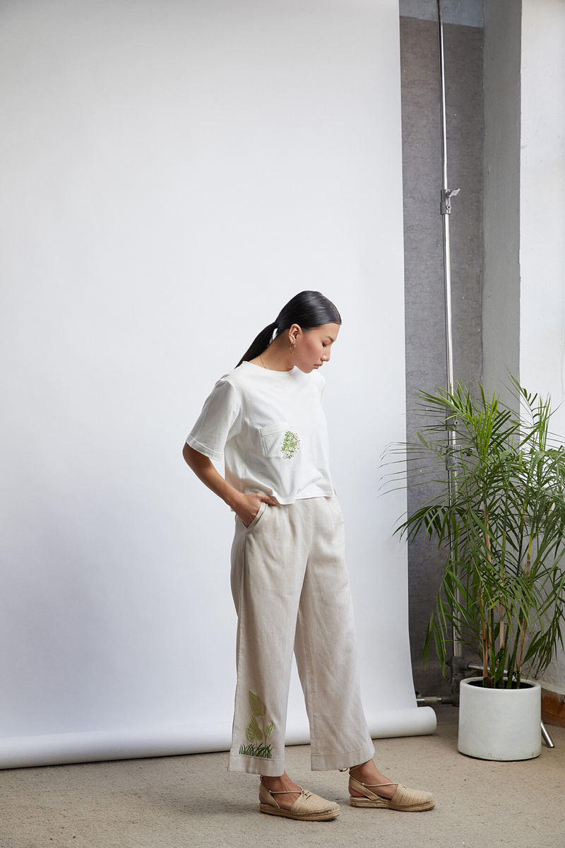 The Garden organic cotton knit top