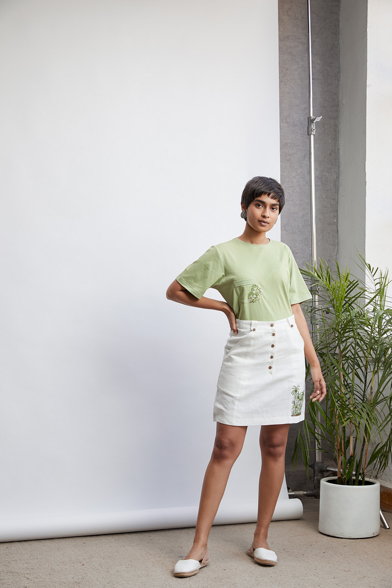 The Palm Valley hemp skirt