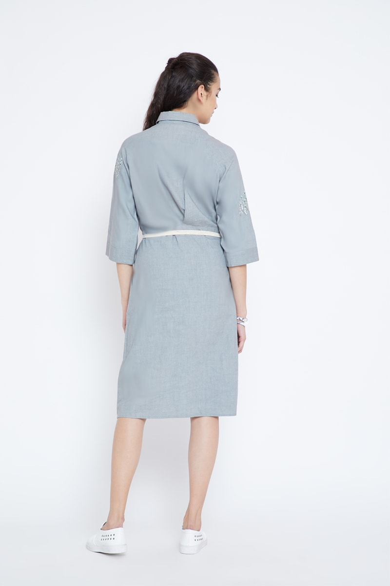Grey Paradise hemp dress