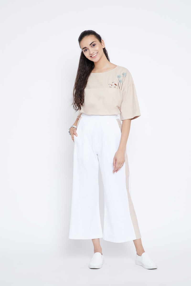 Happy as a Seagull organic cotton trousers