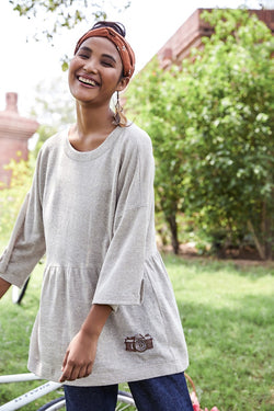 Sandy Heart hemp knit top