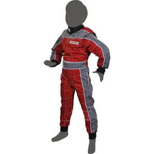 Junior Race Suit - Red/Grey - Italian Motors USA LLC