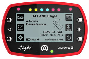 Alfano 6 LIGHT (1 temps) Data Logger Gauge - Italian Motors USA LLC