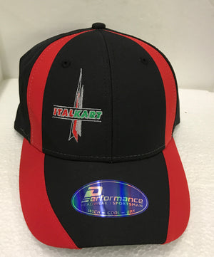 2017 Italkart Hat - Red/Black - Italian Motors USA LLC