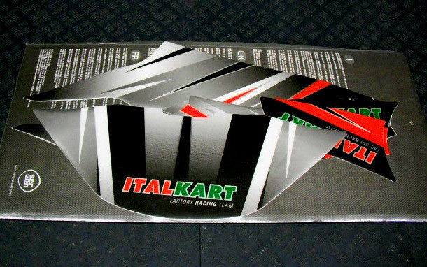 Italkart FP7 Nose Cone Sticker Kit - Italian Motors USA LLC