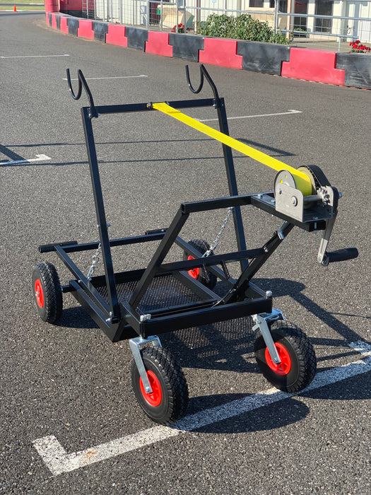 "IM HQ Black Semi-Automatic Kart Stand with Hand Winch and Hooks <font color=""red""> **$50 Flat Rate Shipping**</font>"
