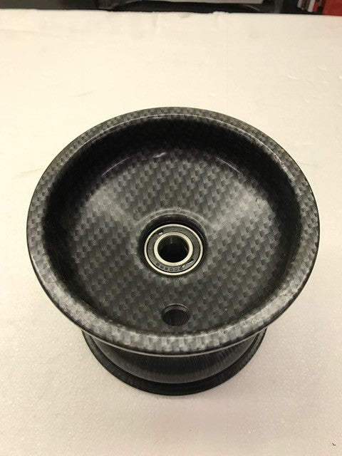 Carbon Look Wheel Spindle Mount - 115mm