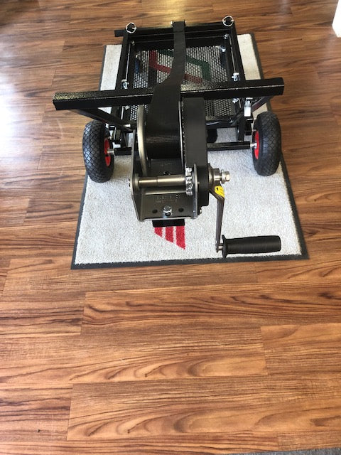"IM Black Semi-Automatic Kart Stand with Hand Winch and Hooks <font color=""red""> **$50 Flat Rate Shipping**</font>"