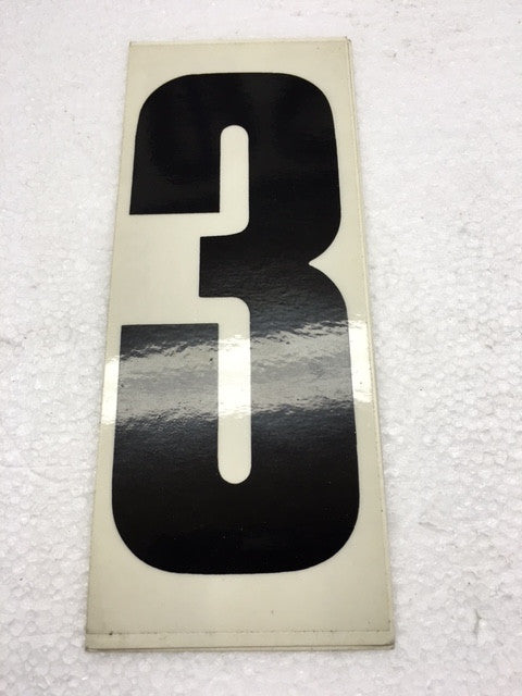 Number Stickers - Black With Transparent Background - Italian Motors USA LLC