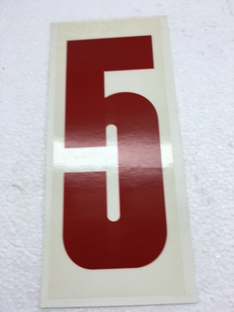Number Stickers - Red With Transparent Background - Italian Motors USA LLC