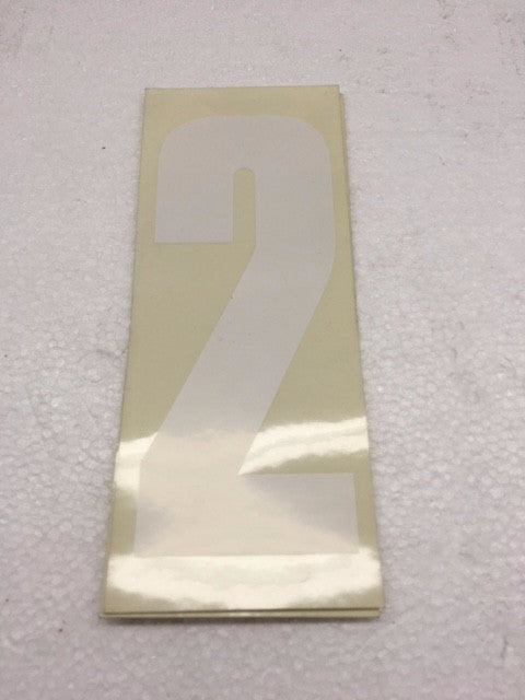 Number Stickers - White With Transparent Background - Italian Motors USA LLC