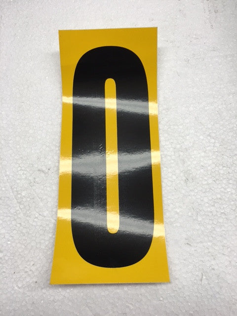 Number Stickers - Black With Yellow Background