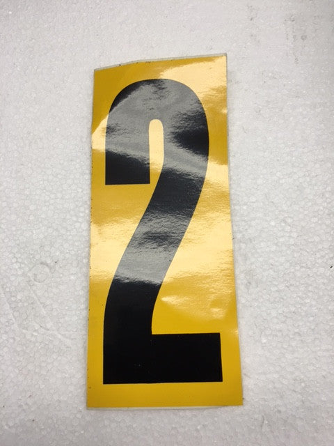 Number Stickers - Black With Yellow Background - Italian Motors USA LLC