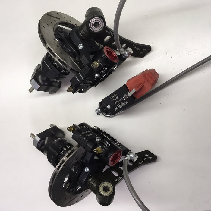 Complete Italkart Front Brake System with Spindles