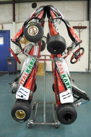 Italian Motors Usa Dual Kart Display Stand