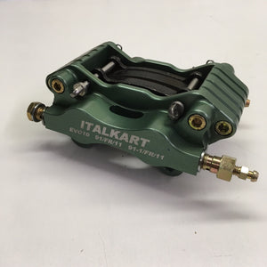 Rear Caliper - EVO 10 Green - Italian Motors USA LLC