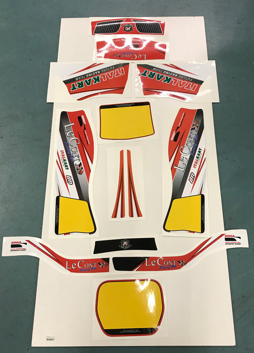 Italkart Primo Kid Kart Sticker Kit - Italian Motors USA LLC