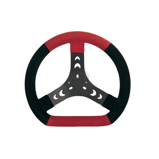 Steering Wheel - Black/Red 300mm - Italian Motors USA LLC