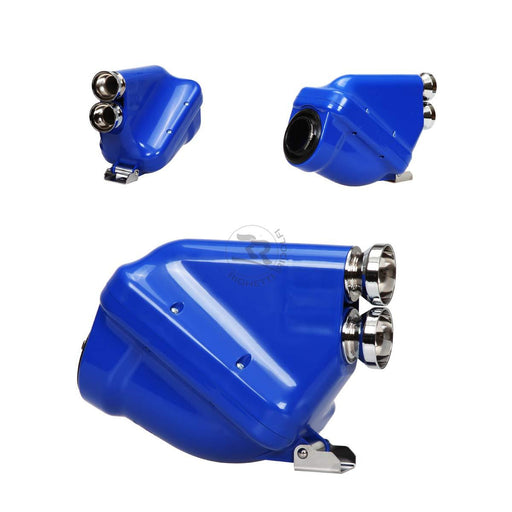 Active Airbox - 30mm - Blue/Chrome - Italian Motors USA LLC