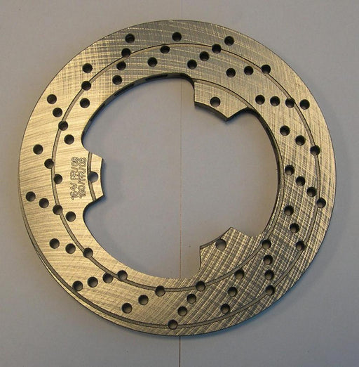 Front Brake Rotor (drilled) - 10mm Thick - Italian Motors USA LLC
