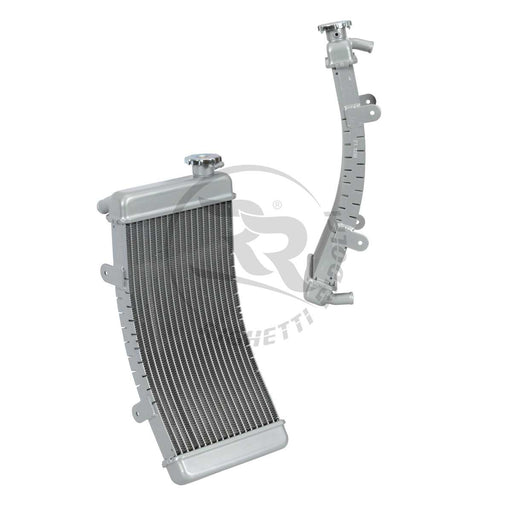 Curved Aluminum Radiator - 410 x 190 x 34mm - Italian Motors USA LLC
