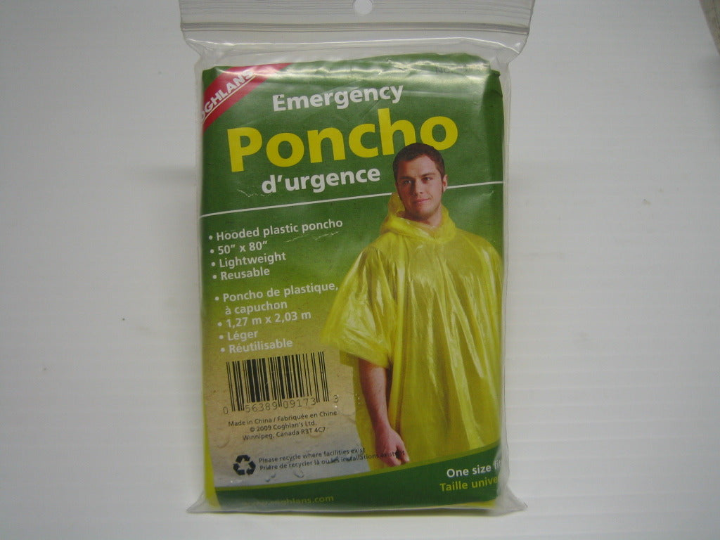 Hooded Plastic Ponchos