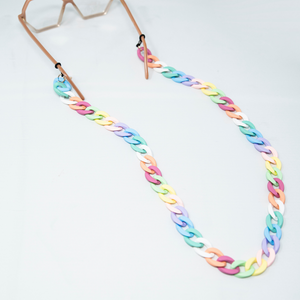 Open image in slideshow, Thin Rainbow Glasses Chain