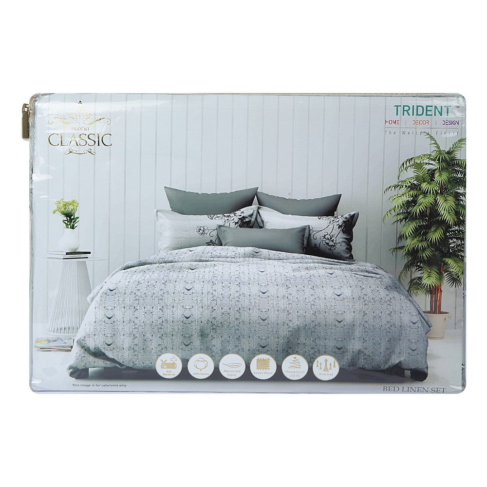 Trident Classic Satin Finish Bedsheet With Pillow Cover 1 N-100% Cotton,