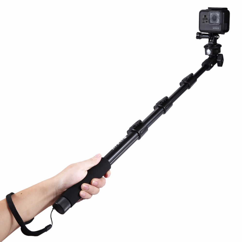 PULUZ PU54B Extendable Adjustable Handheld Selfie Stick Monopod for Action Sportscamera Phone