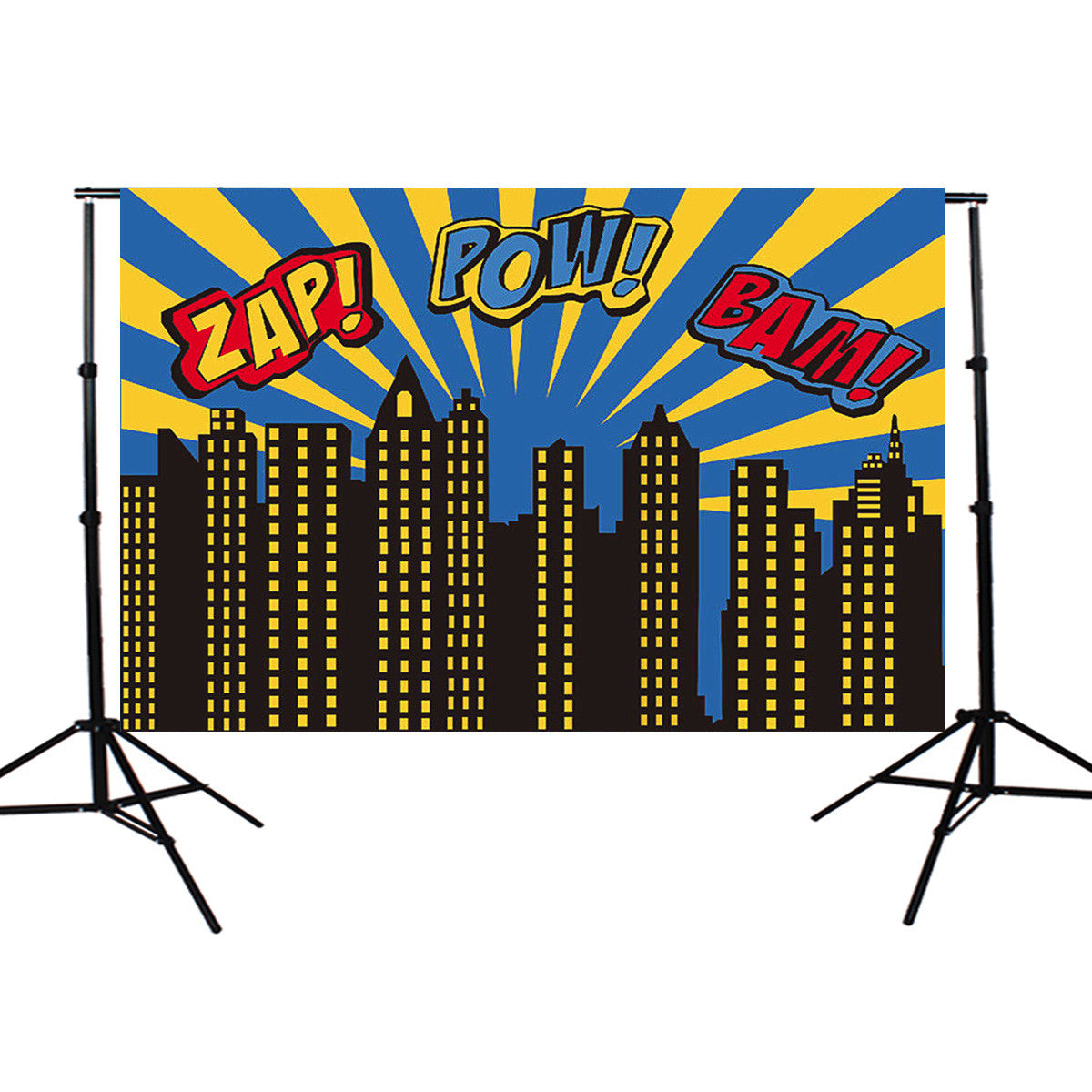 5x3ft Comic Building Theme Vinyl  Photography Background Backdrop for Studio Photo