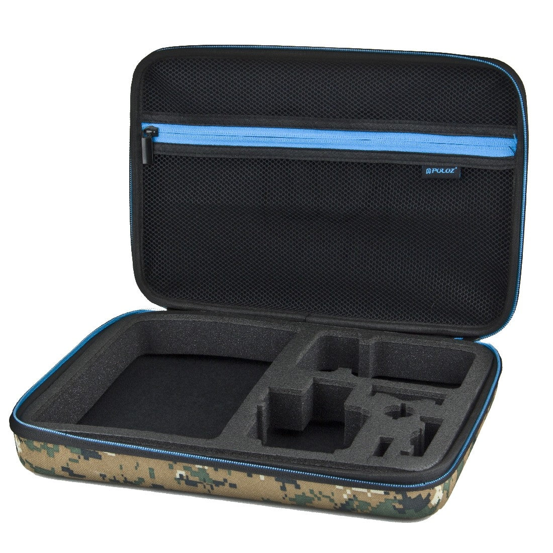 PULUZ PU169 Camouflage Pattern Waterproof Carrying Travel Storage Case Box for Action Sportscamera