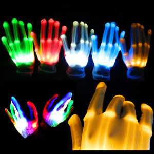 1pcs LED Flashing Gloves Glow Light Up Finger Lighting Dance Party Glow Party